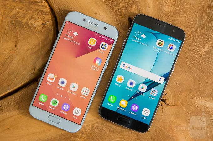 Samsung Galaxy A5 2017 vs Samsung Galaxy S7