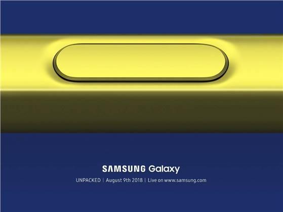 القلم في هاتف Galaxy Note 9 سيعمل بالبلوتوث