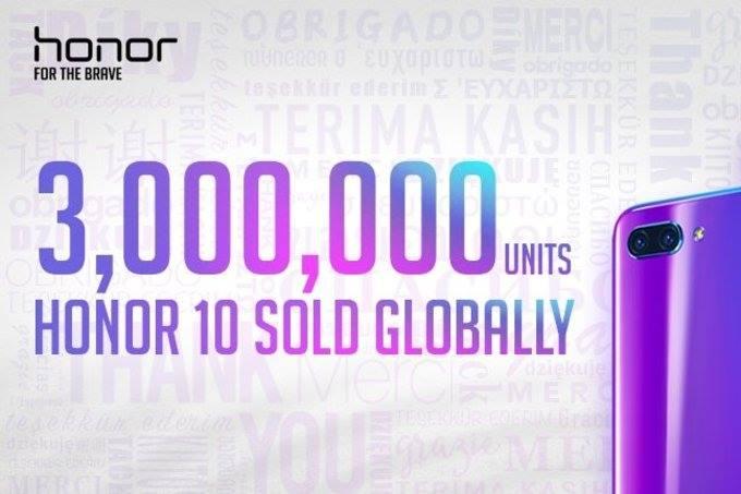 بيع أكثر من 3 ملايين هاتف Honor 10 فى شهرين فقط