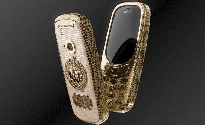 نسخة جديدة من Nokia 3310 من التيتانيوم والذهب 24 قيراط