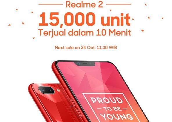 مبيعات الهاتف Realme 2 تحقق رقم قياسى جديد فى 10 دقائق فقط